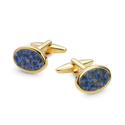 Oval Lapis Lazuli Gold Plated Cufflinks Cufflinks Not specified