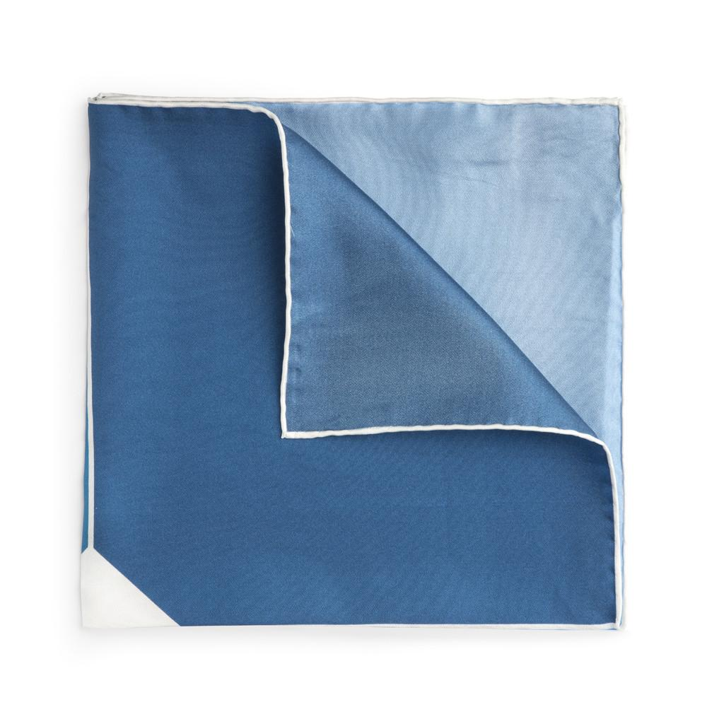 Four Blues Silk Pocket Square