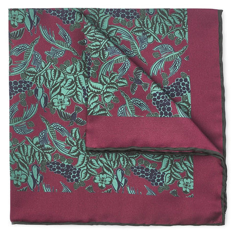 Grape Vines In Red Pocket Square
