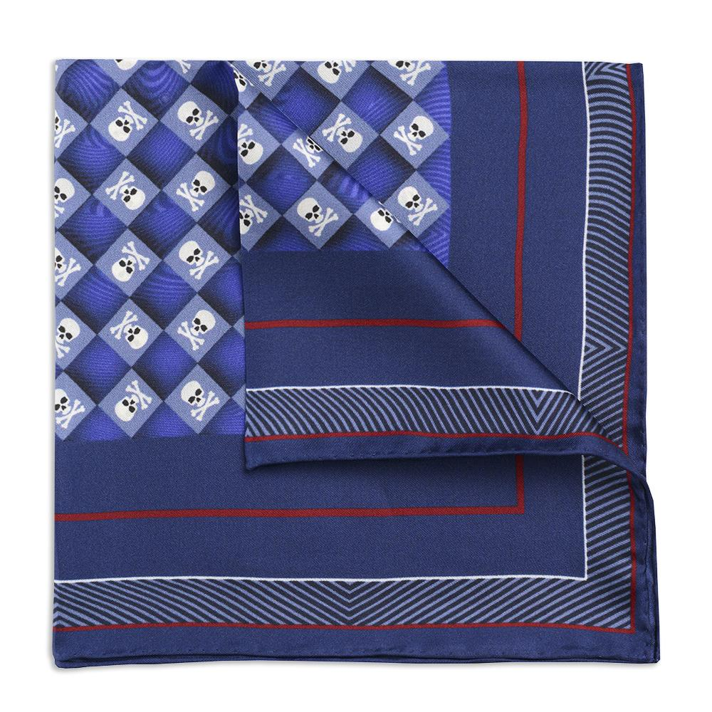 Skull & Crossbones Navy Sea Pocket Square Accessories Not specified