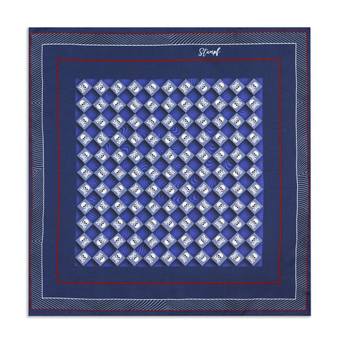 Skull & Crossbones Navy Sea Pocket Square