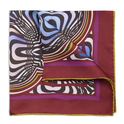 Abstract Fuschsia Pocket Square