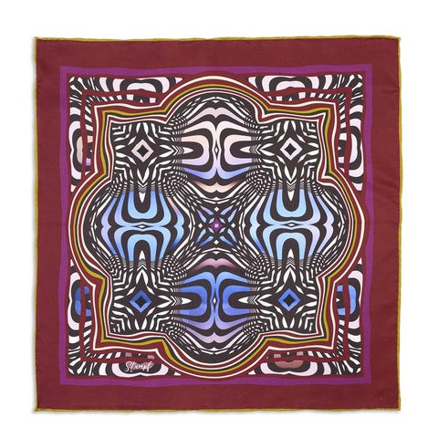 Abstract Fuschsia Pocket Square Accessories Not specified