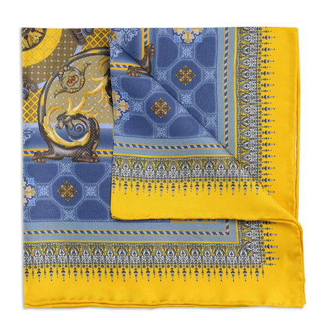 Burlington House Gold Pocket Square