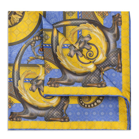 Burlington House Academy Gate Gold Pocket Square