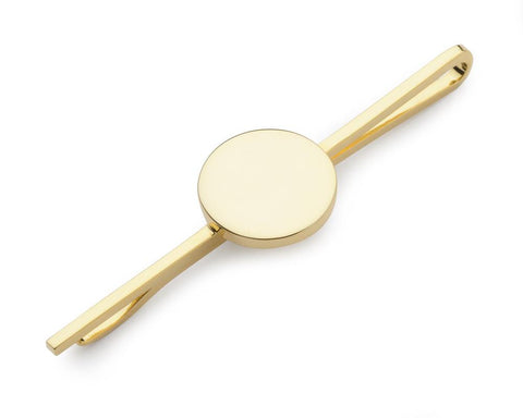Round Gold Plate Tie Slide Accessories Not specified