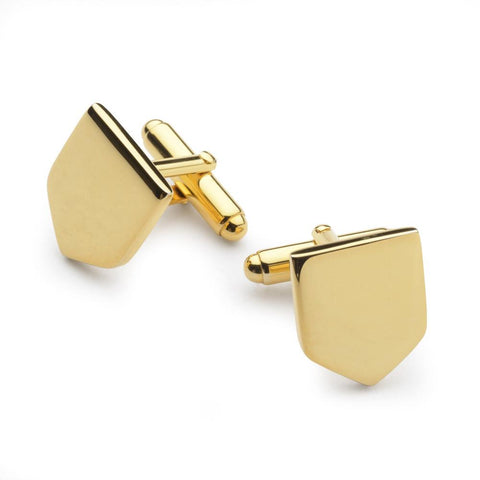 Gold Plated Shield Cufflinks Cufflinks Not specified