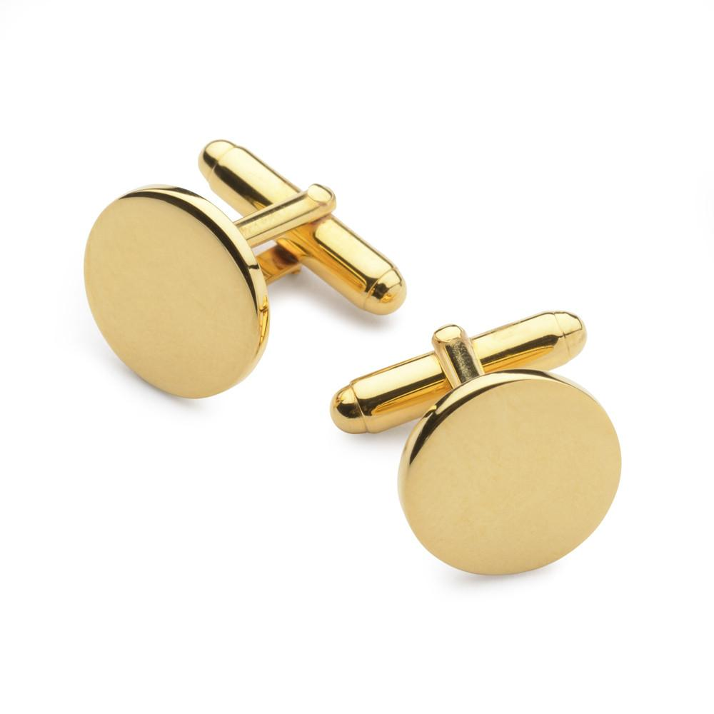Gold Plated Round Cufflinks Cufflinks Not specified