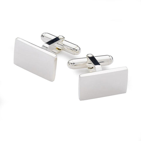 Sterling Silver Rectangle T-Bar Cufflinks Cufflinks Not specified
