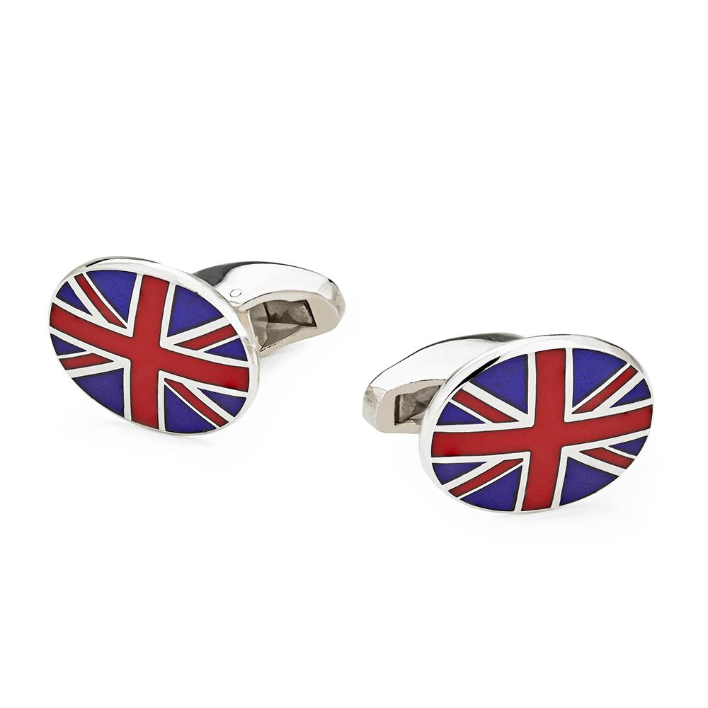 Union Jack In Sterling Silver Cufflinks Cufflinks Not specified