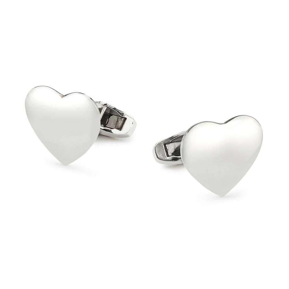 Love Hearts In Sterling Silver Cufflinks