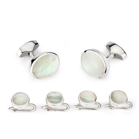 Classic Sterling Silver And Mother Of Pearl Dress Set