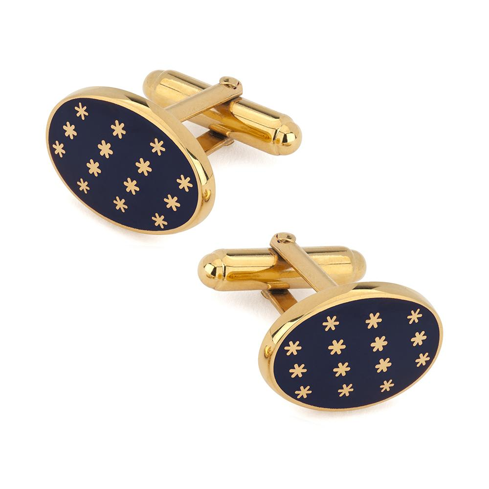 Star Cufflinks In Navy Enamel Cufflinks Not specified