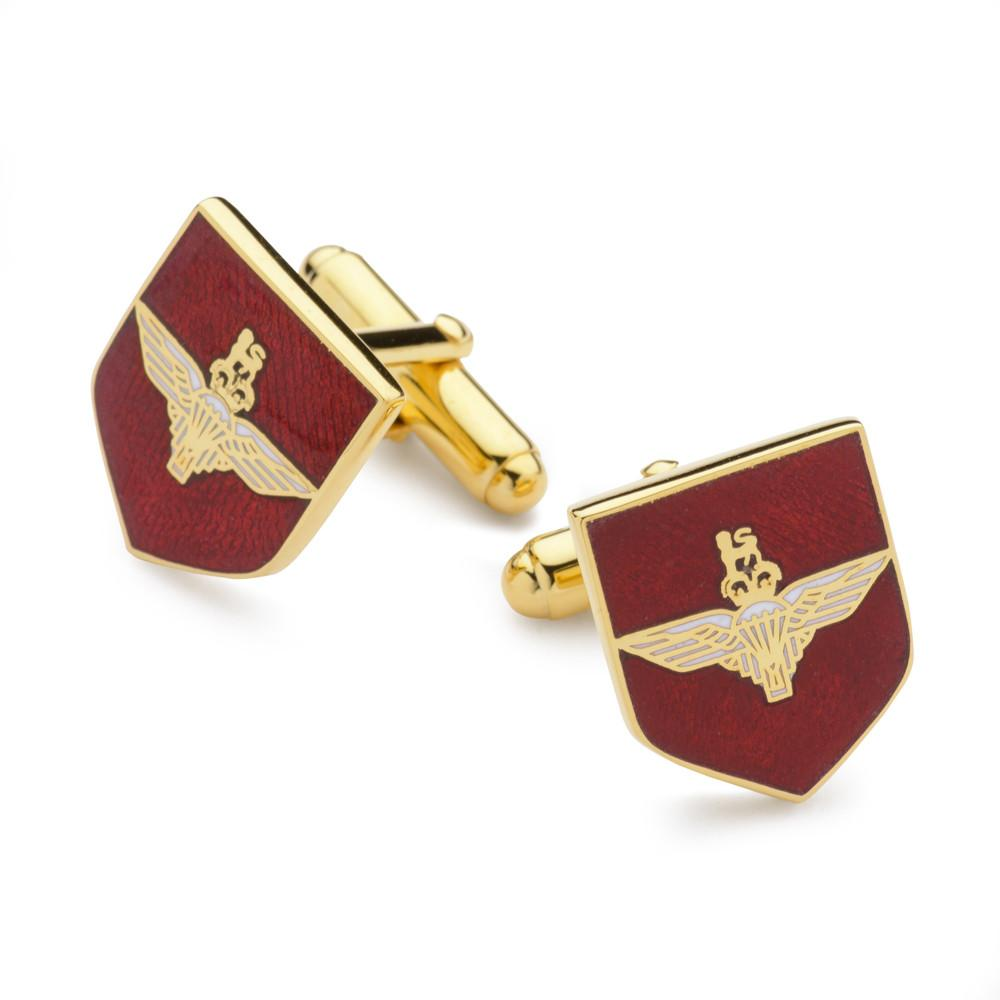 Parachute Regiment Enamel Shield Cufflinks