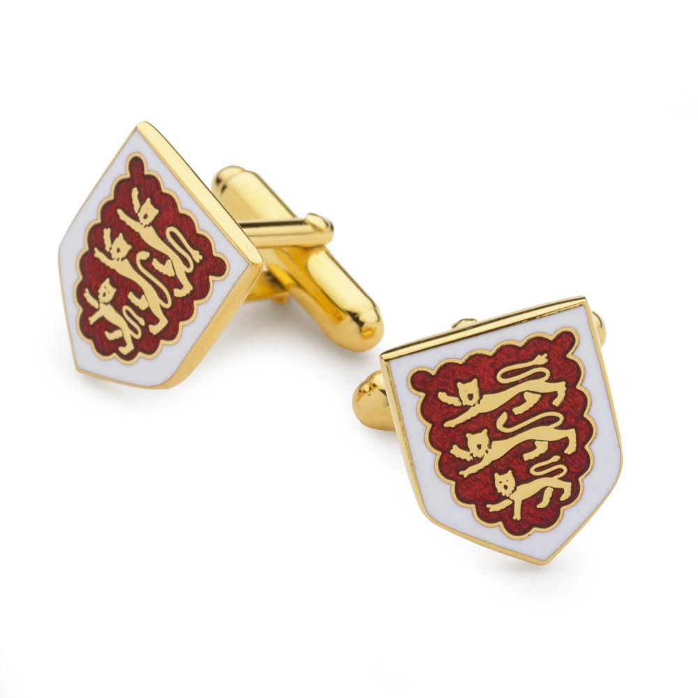 Three Lions Enamel Shield Cufflinks