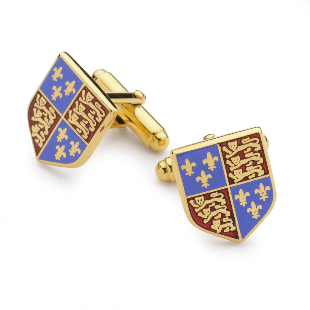 Henry VII Enamel Shield Cufflinks