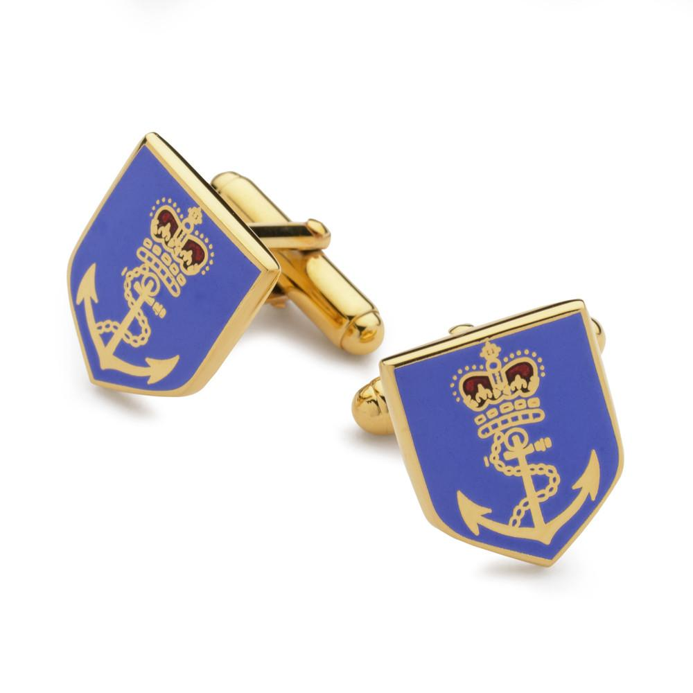Crown & Anchor Enamel Shield Cufflinks