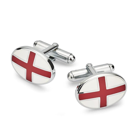 St Georges Cross T-Bar Cufflinks (Silver) Cufflinks Not specified