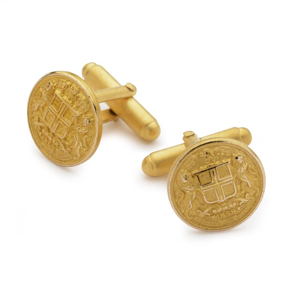 East India Company Button Cufflinks