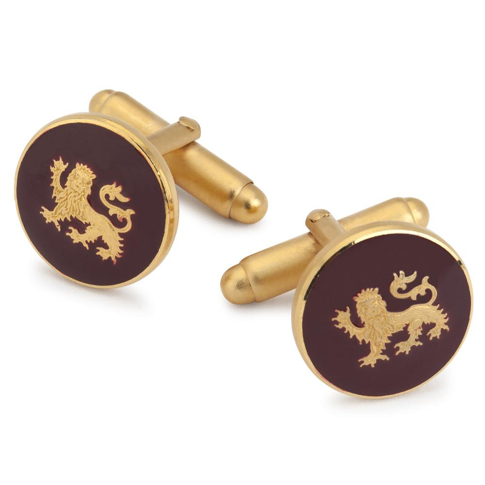 Lion Passant Guardant (Red) Button Cufflinks