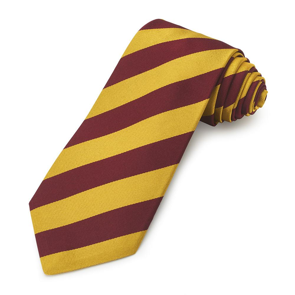11th Hussars (Prince Albert's Own) Three-Fold Silk Reppe Tie Neckwear Benson And Clegg