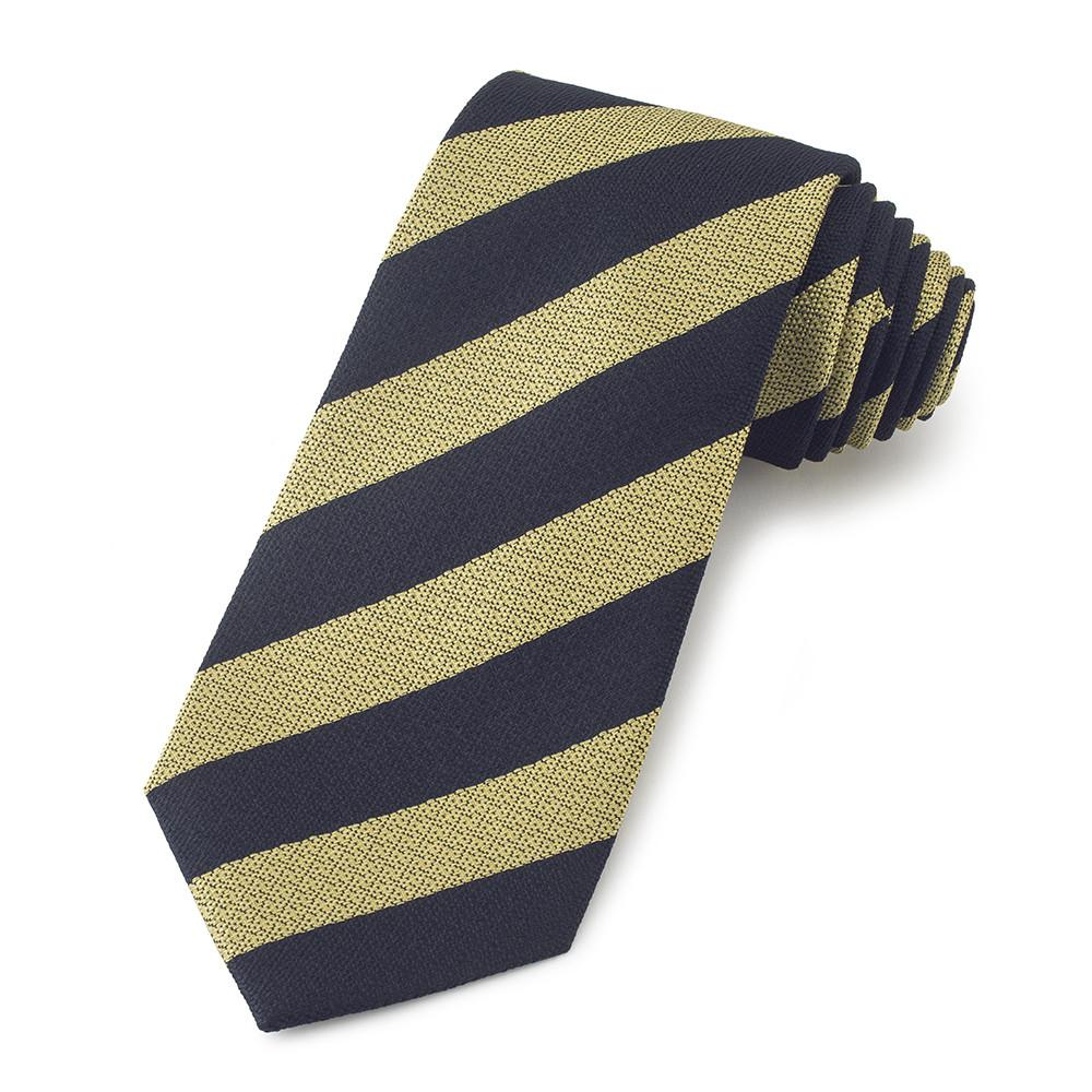 Queen's Own Yeomanry Three-Fold Silk Reppe Tie Neckwear Benson And Clegg