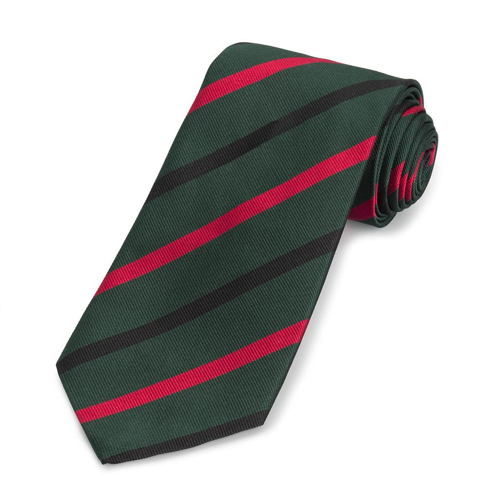 Royal Green Jackets Three-Fold Silk Reppe Tie Neckwear Benson And Clegg Silk Reppe