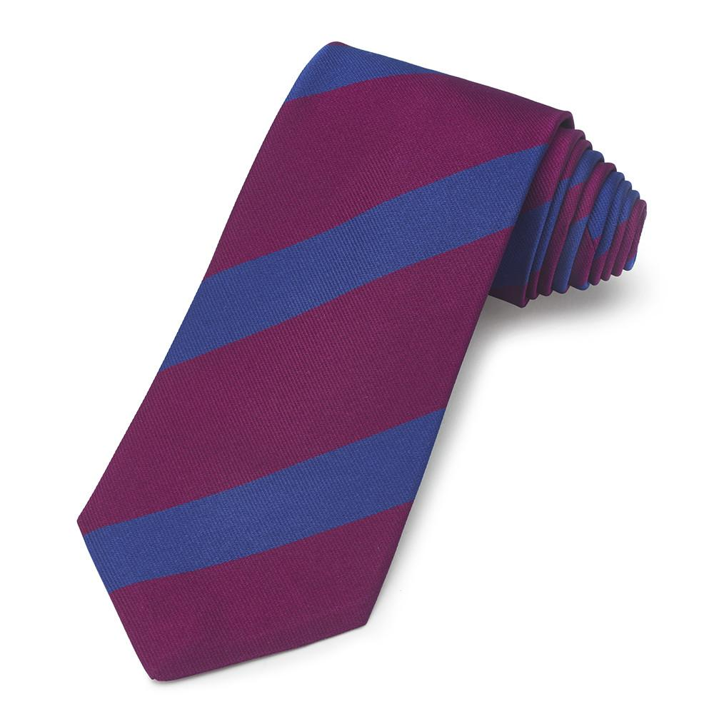 Royal Welch Fusiliers Three-Fold Silk Reppe Tie Neckwear Benson And Clegg