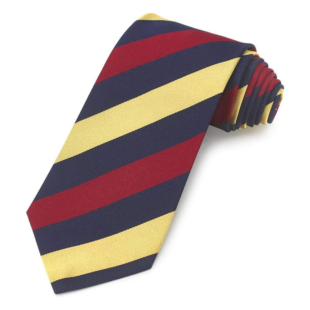 Royal Army Medical Corps (Equal Stripes) Three-Fold Silk Reppe Tie