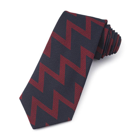 Royal Artillery (Zig Zag Pattern) Three-Fold Silk Tie