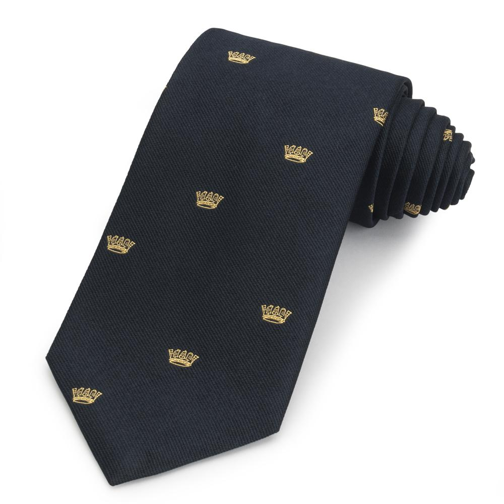 Royal Navy Chatham (Gold Crown) Silk Tie
