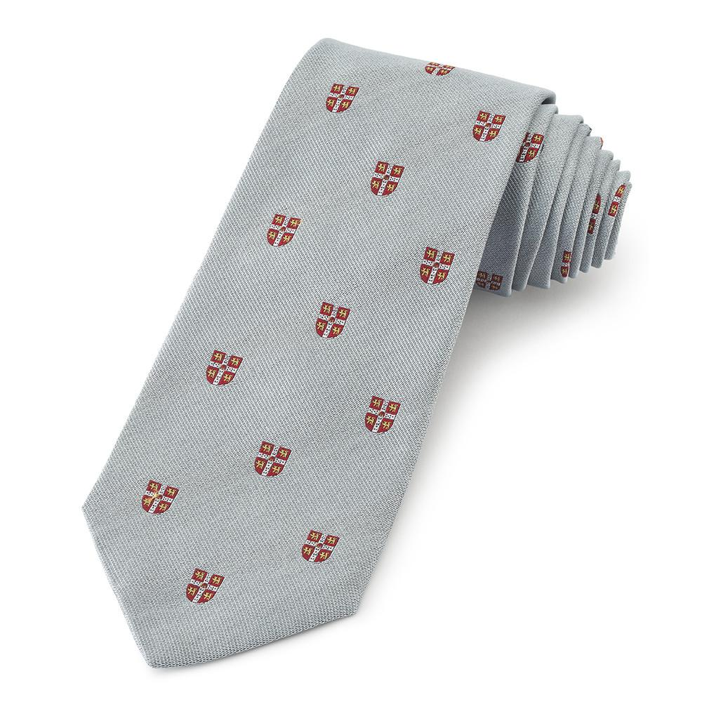 Cambridge University Crested (Blue) Three-Fold Silk Reppe Tie