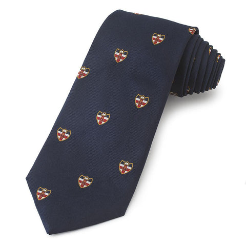 London University Crested Three-Fold Silk Reppe Tie