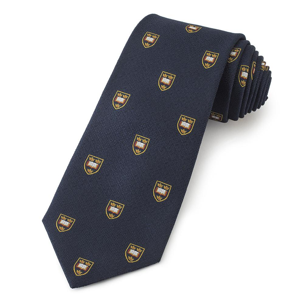 Oxford University Crested Three-Fold Silk Tie