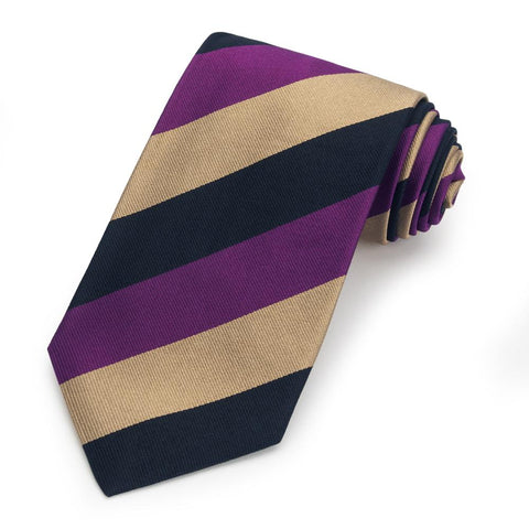 Merchant Taylor's School Three-Fold Silk Reppe Tie