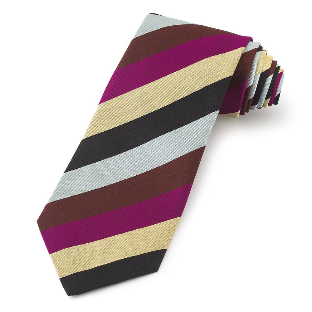 Harlequins Football Club Three-Fold Silk Reppe Tie Neckwear Benson And Clegg