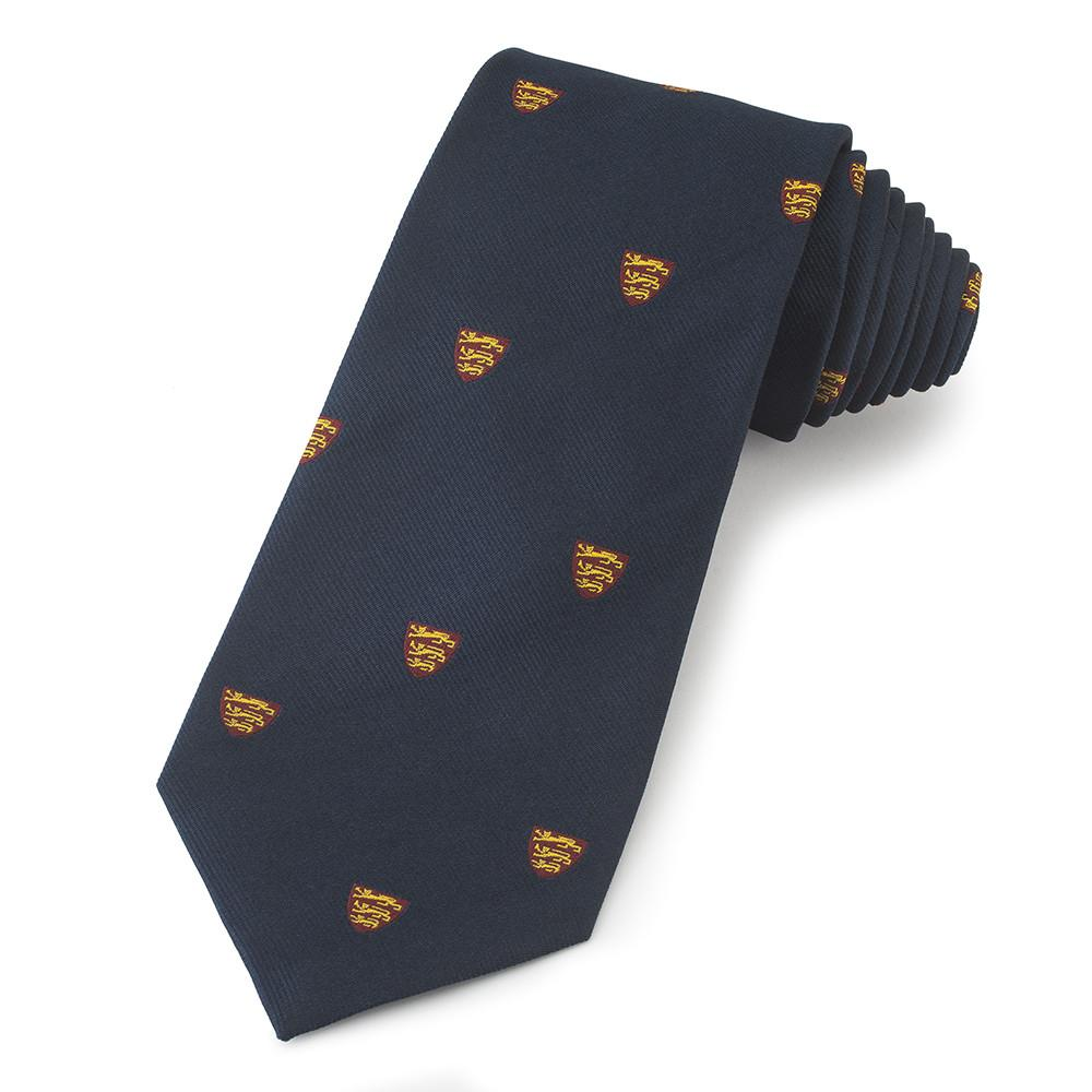 Three Lions Of England Three-Fold Silk Reppe Tie