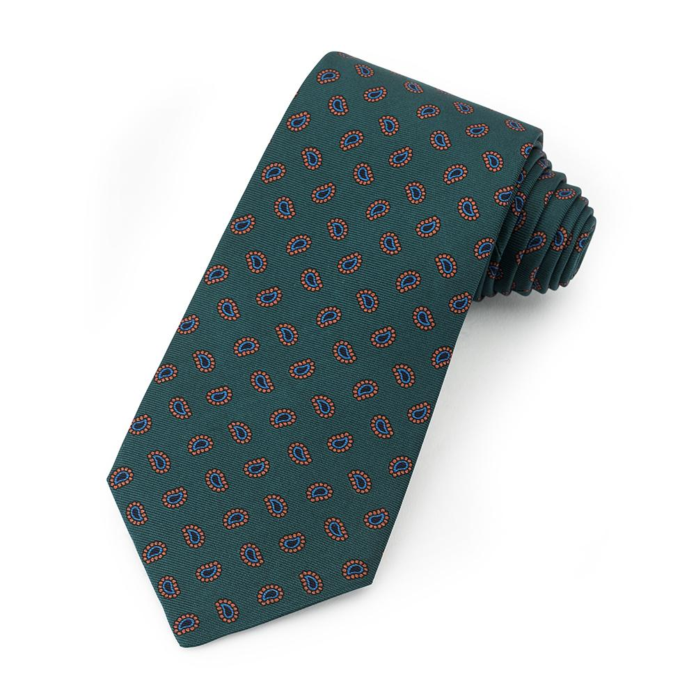 Teardrop Ancient Madder Silk Tie In Green