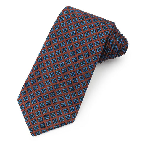 Floral Ancient Madder Silk Tie In Brown Neckwear Benson And Clegg
