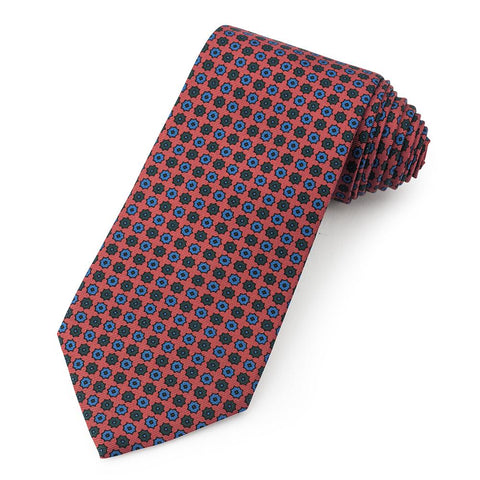 Mini Star Ancient Madder Silk Tie In Burnt Orange