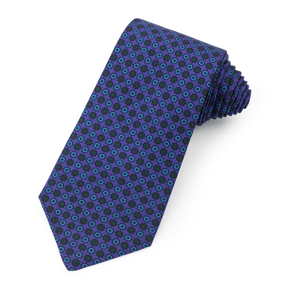 Mini Star Ancient Madder Silk Tie In Purple