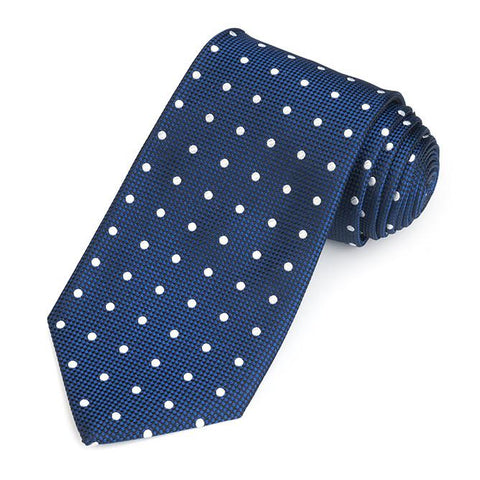 Regent Spot 350 End Silk Three-Fold Silk Tie In Navy