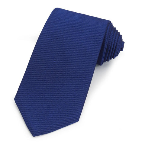 Oxford Blue Silk Reppe Tie