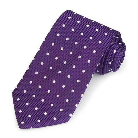 Regent Spot 350 End Silk Three-Fold Silk Tie In Purple