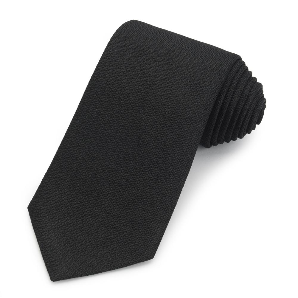 Black Non-Crease Silk Tie Neckwear Benson And Clegg
