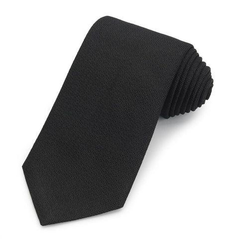 Black Non-Crease Silk Tie