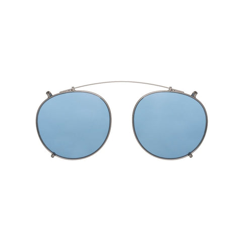 Pleat Black Acetate Sunglasses with Blue Lenses