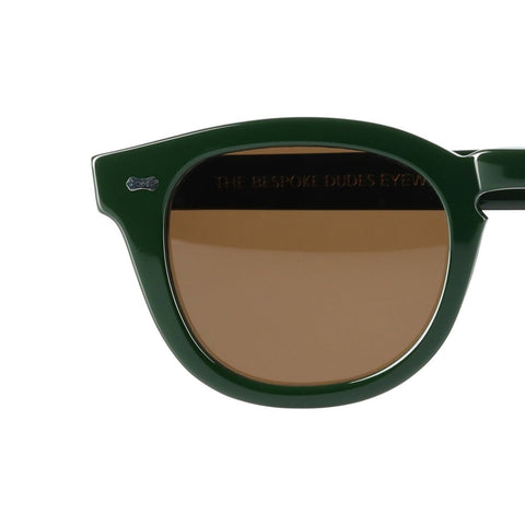 Donegal British Green Acetate Sunglasses with Tobacco Lenses