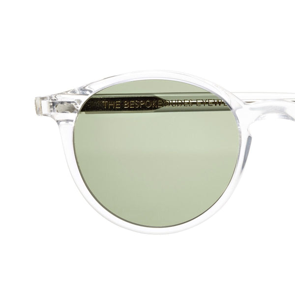 Cran Transparent Acetate Sunglasses with Bottle Green Lenses Accessories Not specified