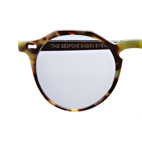 Lapel Green Tortoise Acetate Sunglasses with Gradient Grey Lenses Accessories Not specified